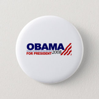 Obama For President 2008 Pinback Button