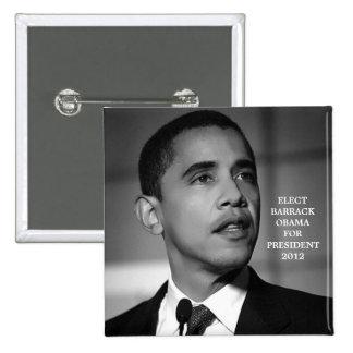 OBAMA FOR PRESIDENT 2012 BUTTON