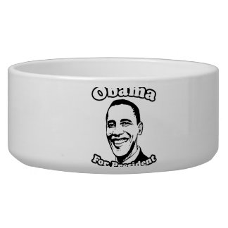 OBAMA FOR PRESIDENT 2012 -.png Pet Water Bowls