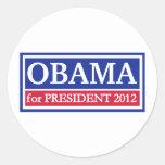 Obama for President 2012 Round Sticker