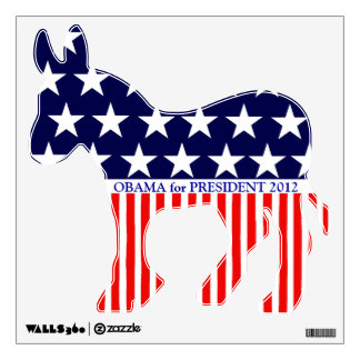Obama for President 2012 - Stars and Stripes Wall Sticker