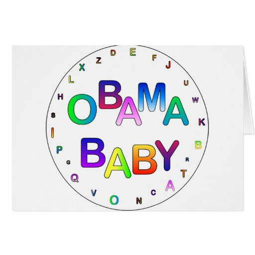 Obama for President, Baby! Greeting Card