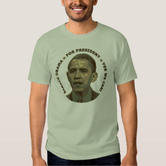 Obama for President (military camouflage) T Shirt