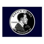 Obama For President (Navy Blue) Postcard