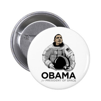 Obama for President of Space Buttons