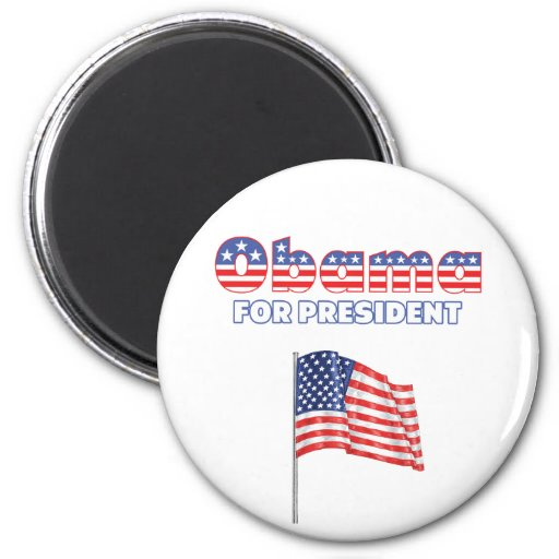 Obama for President Patriotic American Flag 2 Inch Round Magnet