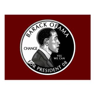 Obama For President (Red) Postcard