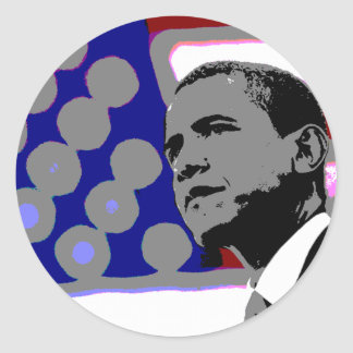 Obama for President Round Stickers