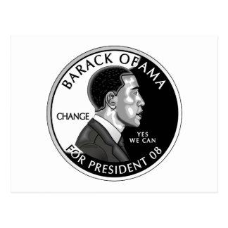 Obama For President (White) Postcard