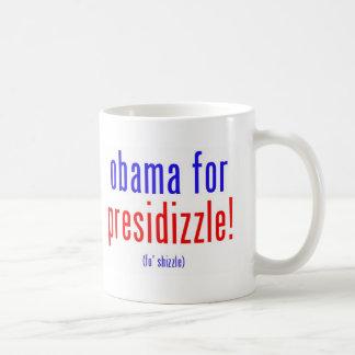 Obama for presidizzle classic white coffee mug