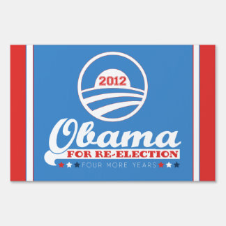OBAMA for Re-Election 2012 Yard Sign (LARGE size)