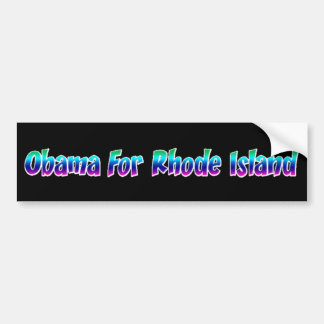 Obama For Rhode Island Bumper Sticker