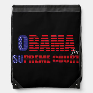 Obama for Supreme Court Drawstring Bag