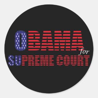 Obama for Supreme Court Sticker