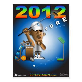Obama Fore 2012 Postcard