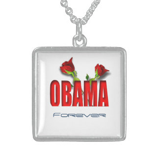 Obama forever sterling silver necklace