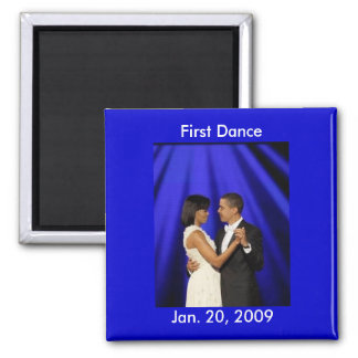 Obama formal, primera danza, el 20 de enero de 200 imán cuadrado