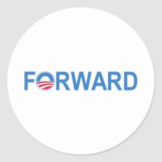 Obama Forward Classic Round Sticker