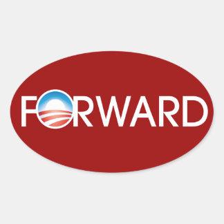 Obama Forward Logo Oval Sticker