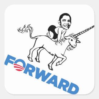 Obama Forward Parody w/ Baby on Unicorn stickers