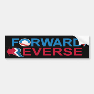 Obama Forward - Romney Reverse Bumper Sticker Car Bumper Sticker