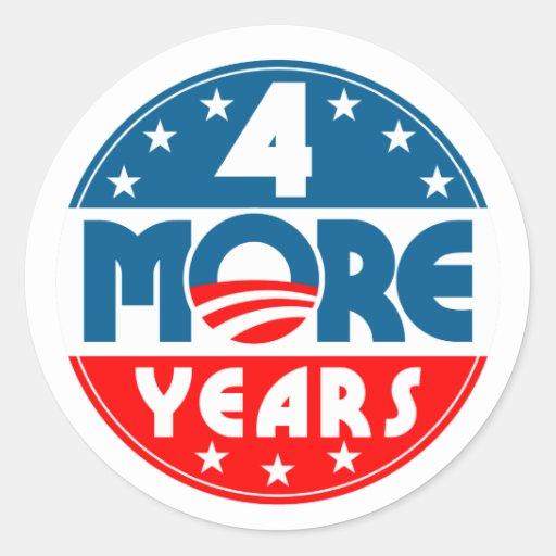 obama_four_4_more_years pegatina redonda