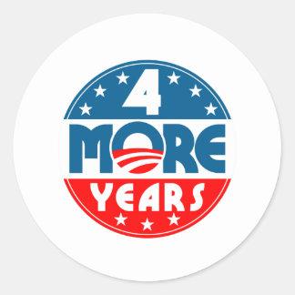 obama_four_4_more_years round sticker