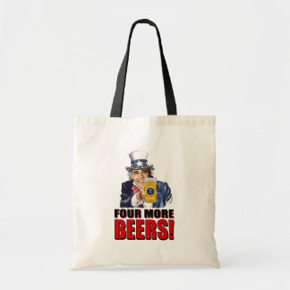 Obama - Four More Beers Canvas Bag