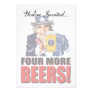 Obama - Four More Beers Custom Invites