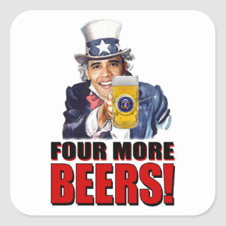 Obama - Four More Beers Sticker
