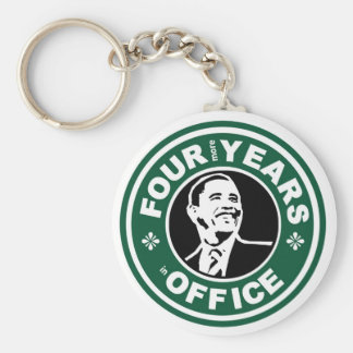 Obama Four More Years starbucks style Keychain