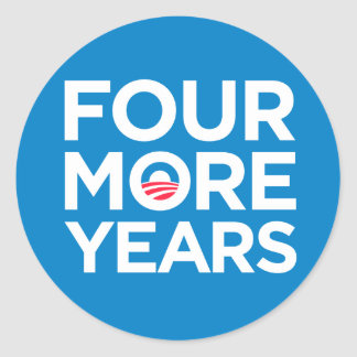 Obama Four More Years Stickers