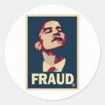 Obama Fraud Round Sticker