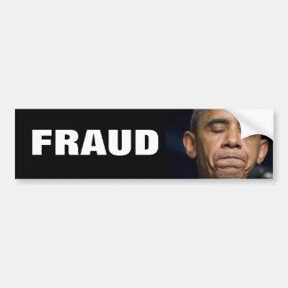 Obama - fraude pegatina para auto