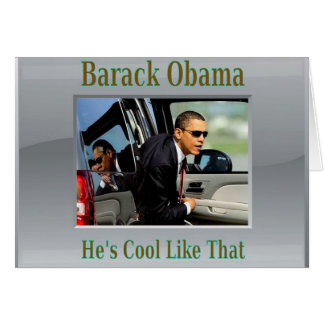 Obama fresco como ése tarjeton