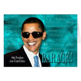 Obama fresco tarjeta de felicitación