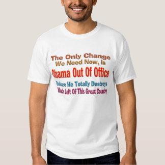 Obama fuera de la oficina remeras