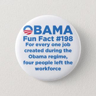 Obama Fun Facts Pinback Button