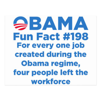 Obama Fun Facts Postcard