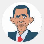 Obama - funny portrait sticker