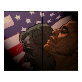 Obama Future, Bush Past Poster