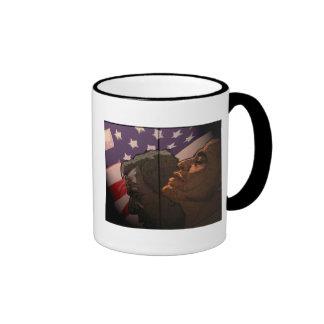 Obama Future, Bush Past Ringer Mug