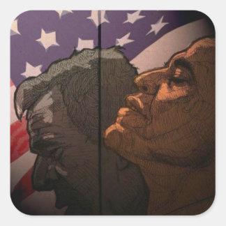 Obama Future, Bush Past Square Sticker