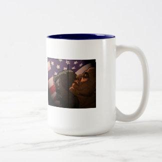 Obama Future, Bush Past Two-Tone Coffee Mug