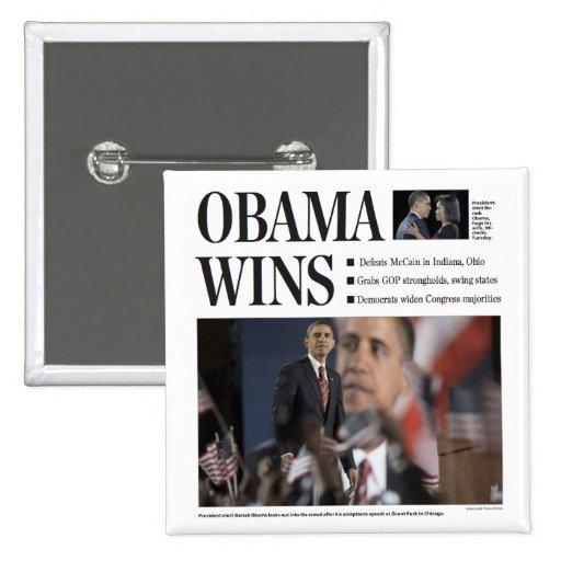 Obama gana el botón pins