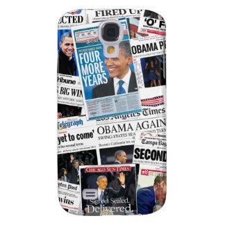 Obama gana el caso duro vivo 2012 de HTC Funda Para Galaxy S4