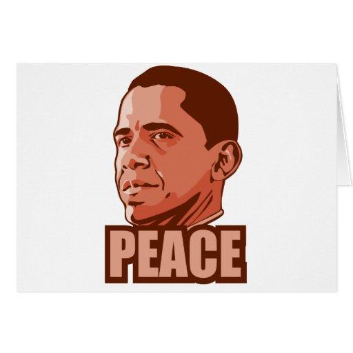 Obama gana el premio de la paz tarjeta de felicitación