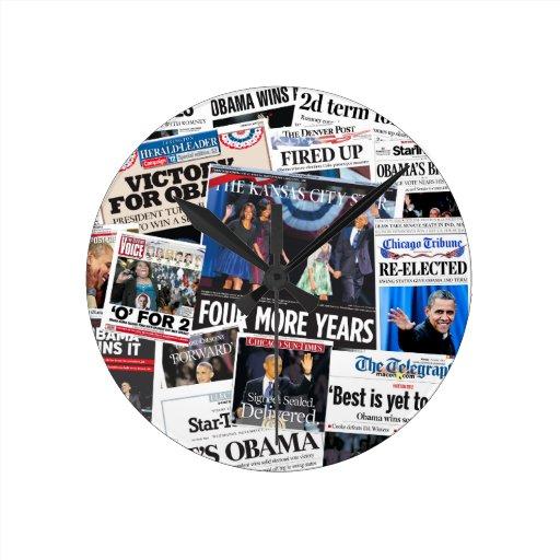 Obama gana el reloj 2012 del periódico de la reele