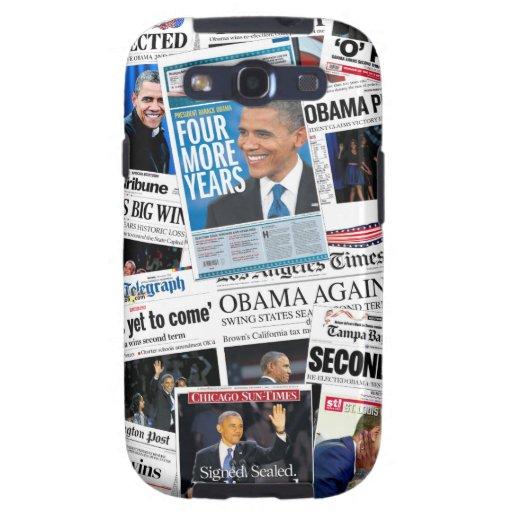 Obama gana la caja 2012 de la galaxia S3 de Samsun Galaxy S3 Protector