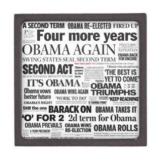 Obama gana la caja 2012 de regalo del collage del  caja de recuerdo de calidad